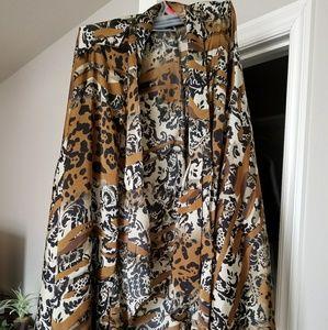 Catherine's 4x animal print cardigan